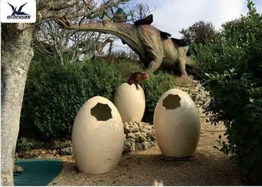 China Animatronic Giant Dinosaur Eggs Models For Jurassic Park Decoration 5 Meters supplier