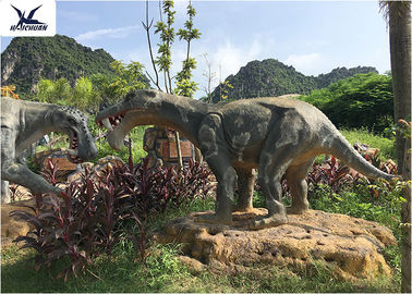 Windproof Infrared Sensor Outdoor Dinosaur Statues In Garden And Playground
