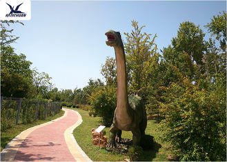 Full Size Artificial Infrared Sensor Dinosaur Models For Outdoor Place