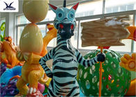 Life Size Amusement Park Customized Cute Cartoon Fiberglass Animal Zebra Statues