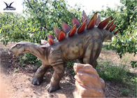 Large Outdoor Animal Statues , Realistic Life Size Dinosaur Lawn Decorations