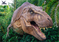 China Dinosaur Yard Statue With Realistic Head Model , Dinosaur Garden Sculpture  company