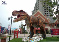 Robotic T Rex Outdoor Dinosaur Statues For Display Real Estate Development Opening Event