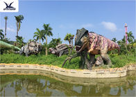 China Lifesize Giant Colorful T Rex Lawn Ornament For Game Center 110 V / 220A factory