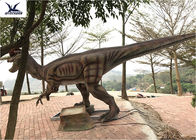 Giant Dilophosaurus Model Outdoor Dinosaur Statues , Dinosaur Yard Art