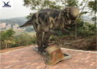 China Pachycephalosaur Robotic Dinosaur Garden Ornaments Soft And Smooth Surface Treatment factory