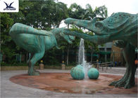 China Snow Proof Life Size Fiberglass Statues Replica Dinosaur For Jurassic Dinosaur Park company