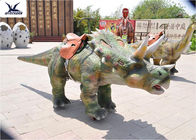 Coin Operated Large Ride On Dinosaur Animatronic Dinosaur Walking Ride On Car