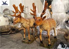 Zoo Park Lifelike Animatronic Animals Artificial Mechanical Animal With Fur Statues