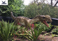 Silicon Outdoor Dinosaur For Jurassic Theme Park / Large Animal Lawn Ornaments