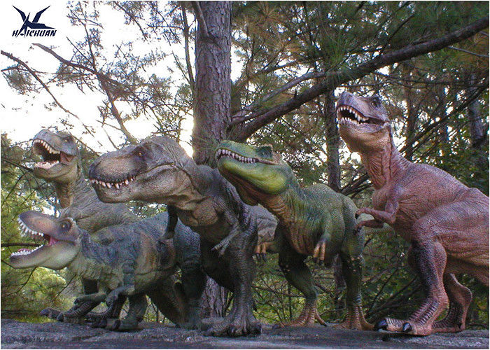 Attractive Robotic Life Size Dinosaur Statues With