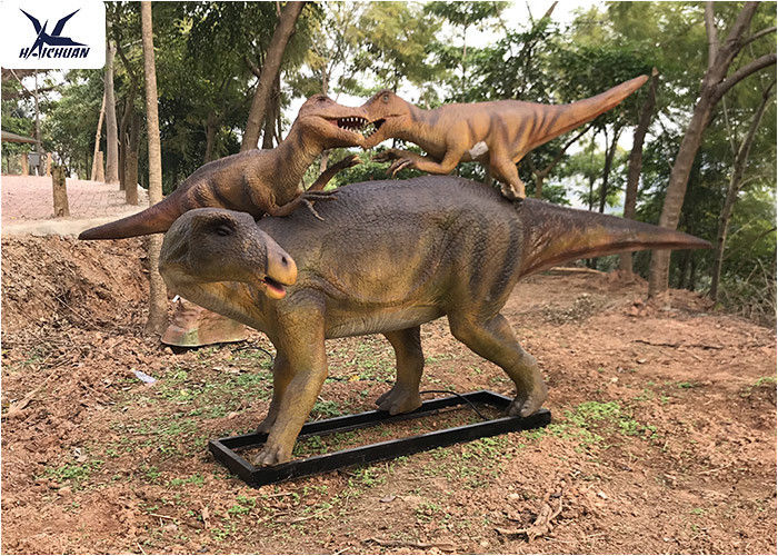 Life Size Animatronic Dinosaur Garden Statue Dinosaur Mother And Baby Garden  Display