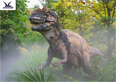 Decorative Animatronic Outdoor Dinosaur / Realistic Spraying Smoke Dinosaur Models