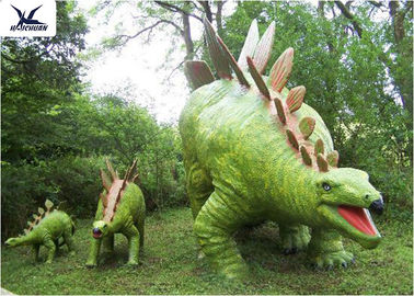 Delicieux Jurassic Park Outdoor Resin Animal Statues , Artificial Robotic Moving Dinosaur  Sculpture Park