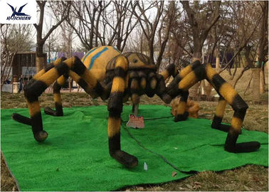 China Simulation Waterproof Animatronic Animals Spider Statues For Amusement Park Decoration factory