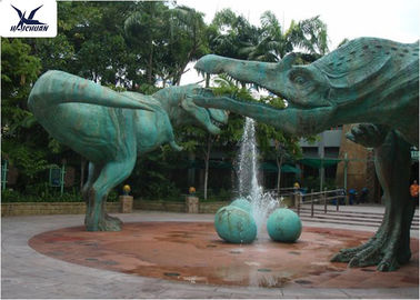 China Snow Proof Life Size Fiberglass Statues Replica Dinosaur For Jurassic Dinosaur Park factory