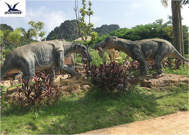 China Theme Park Waterproof Life Size Fiberglass Statues Artificial Dinosaur Replica factory