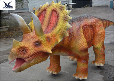 China Coin Operated Large Ride On Dinosaur Animatronic Dinosaur Walking Ride On Car factory