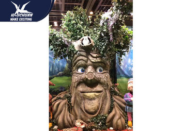 China Sunproof Realistic Handmade Talking Tree  Amusement Park Decoration factory
