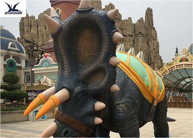 China Infrared Self - Acting Life Size Fiberglass Dinosaur Statue In Amusement Park factory
