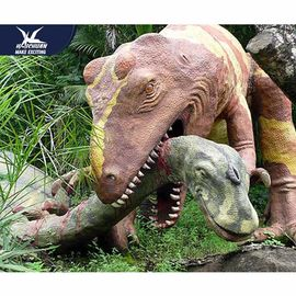 China Moveable Realistic Dinosaur Models For Museum Exhibition / Life Like Garden Animals factory
