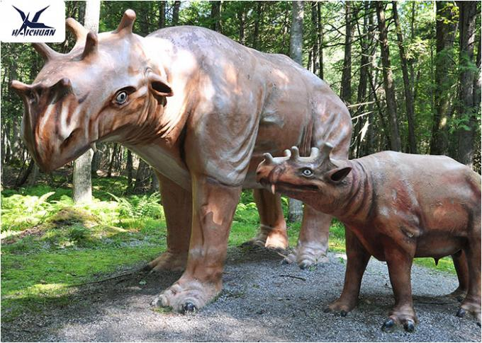 Amusement Park Decoration Realistic Dinosaur Models Artificial Mother And Baby Models