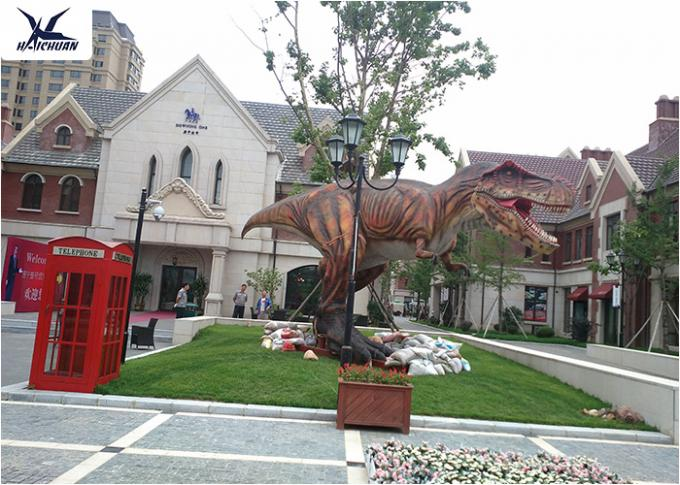 Robotic T Rex Outdoor Dinosaur Statues For Display Real